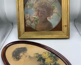 Two Female Portraits