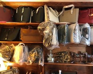 New leather designer handbags