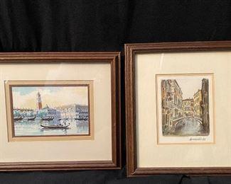 009 Signed Artist Venice Prints