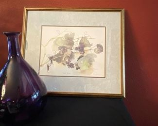 012 Signed Lyn Snow Wild Grapes Limited Edition Print