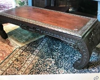Chinese Carved Low Table $245.00 (item located in storage, please contact if interested and we will arrange for the item to be on-site the day of the sale)
