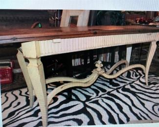 Drop Leaf Console Table $640.00 (item located in storage, please contact if interested and we will arrange for the item to be on-site the day of the sale)