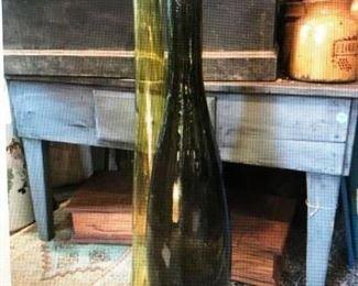 2 Large Scale Elongated Bottles $130.00