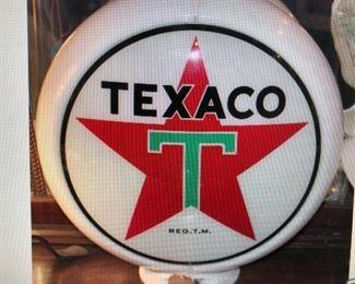Texaco Gas Pump Globe $295.00