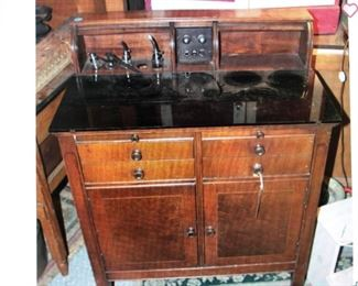 Vintage Dental Cabinet with Glass Top $380.00 (item located in storage, please contact if interested and we will arrange for the item to be on-site the day of the sale)