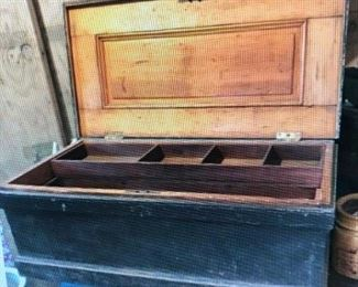 Paint Decorated Tool Chest $270.00