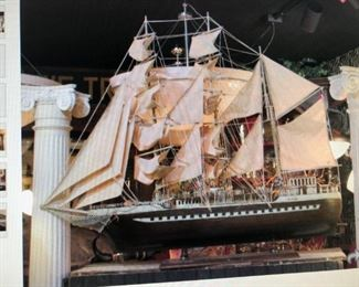 Clipper Ship Model $560.00( item located in storage, please contact if interested and we will arrange for the item to be on-site the day of the sale)
