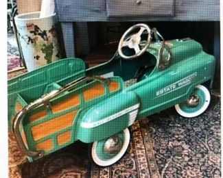 Stutz Painted Metal Pedal Car  $260.00 (item located in storage, please contact if interested and we will arrange for the item to be on-site the day of the sale)
