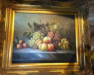 Beautiful Oil Painting in Gold Gilt Frame, $440.00