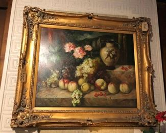 Oil Painting in Gold Gilt Frame - Excellent Condition $460.00