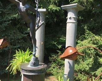 Spectacular Statue of Mercury on a Pedestal, Fiberglass $2240.00