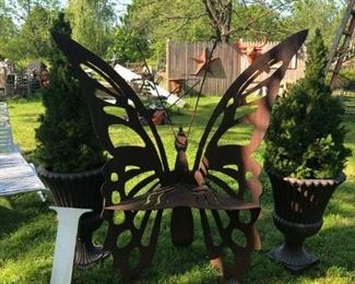Unique Butterfly Chair, Made from Steel - Great Garden  Piece $1750.00