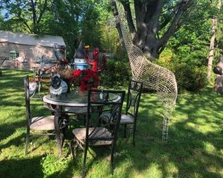 Lawn art, statuary and patio sets!