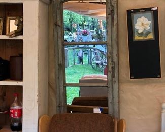 Great vintage window, converted into a mirror.  Window does open $595.00