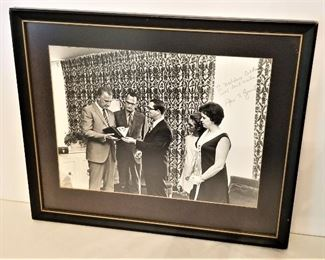 Lot #1  In-Person Spiro Agnew (Vice President) autographed photo