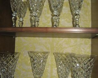 Hawkes faceted crystal stemware