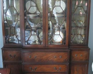 Traditional-style wooden display cabinet