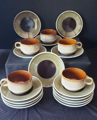 """https://ctbids.com/#!/description/share/422386 Oneida Luzerne: 5 cups & 15 saucers. """"Modern heritage tableware through design & technology. Food brings people together. The dining table is a backdrop for the incredible every day, where discoveries and memories are made. It is a place Luzerne recognizes for its vitality and the familiar—but no less magical—the dimension it brings to life itself. Drawing on over 70 years of tradition and knowledge, Luzerne designs and creates bespoke fine china for many of the world's highly regarded brands in the food, hospitality, retail and airline industries."""""""