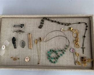 Mixed Lot with Horse Money Clips Toothpick Holder Rosary
