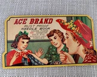 Vintage Ace Brand Needle Book