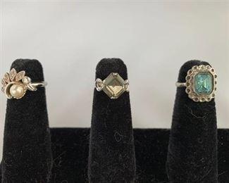Trio of Costume Rings
