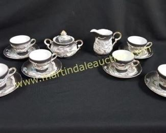 Vintage dragon decorated cups