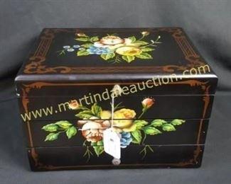 large painted flatware box