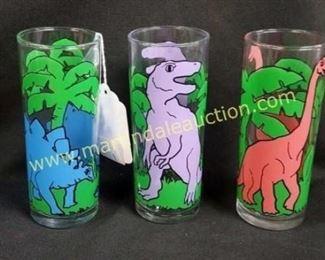 Vintage dinosaur highball glasses