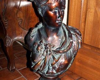 Large plaster bust (damaged)