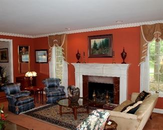 Living Room - this will be the Auction Room (everything in this room is in the Online Auction)