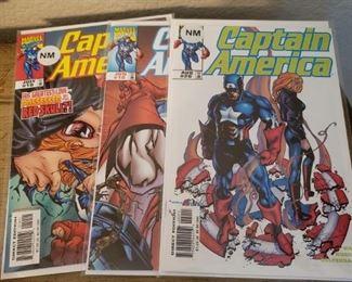 Lot 22    3 Near Mint Captain America Comics $6