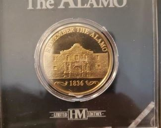 Lot 27   Highland Mint Limited Edition Alamo Coin New $10