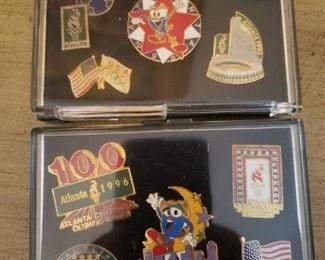 Lot 28  Lot of ten Atlanta Olympics Pins (Remember the bombing)  $15