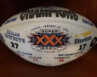 Lot 33    Super Bowl XXX Football   Cowboys-Steelers  $25