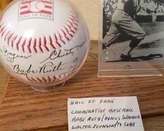 Lot 34    Hall of fame commemoritive ball   $20