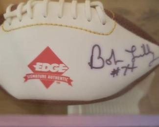 Lot 36    Autographed Bob Lilly Mini Football   $30