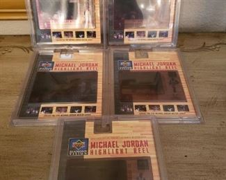 Lot 45   Rare 1997 Michael Jordan Upper Deck Diamond Vision Complete set of 5    $200
