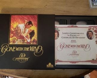 Lot 53   50th Anniversary Gone With The Wind VHS SET $10