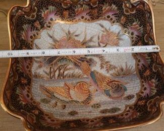 Lot 55  Japanese Probably Satsuma Enamel Painted Bowl  $25