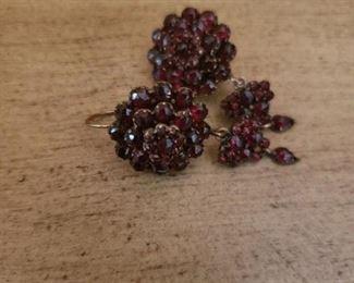 Lot 64   Antique Ruby? Earings   $30 Pair