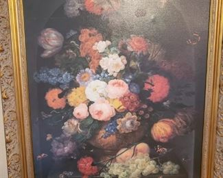 Lot 77     Beautiful Still Life Oil Painting   $300 Size next page