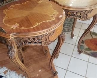 Lot 87   2 French Side Tables- 1 rough 1 nice  $75 for both