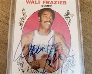 Lot 89    Autographed Walt Frazier Card   $30