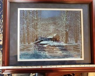 Lot 93    Texas artist B. Herd framed signed and numbered print   $40