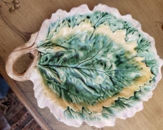 Lot 96   Etruscan Majolica Platter- Small scuff on glazing $50
