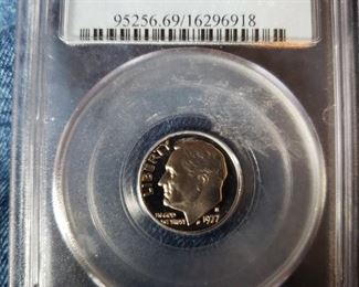 Lot 129    Collectible Graded Coin   $20