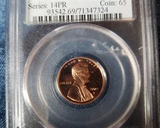 Lot 132   Collectible Graded Coin   $20