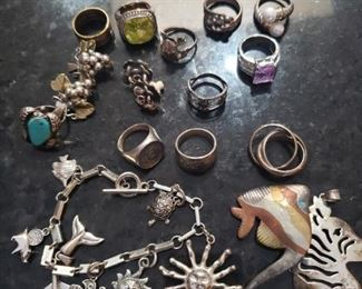 $200    Sterling Silver Jewelry Lot