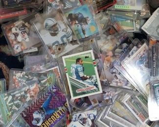 #143      $175    Lot of about 200 Barry Sanders Football Cards