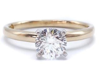1 Carat Leo Diamond Ring in Platinum and Gold
